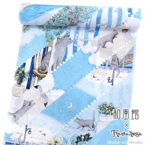 浴衣反物 ツモリチサト ブランド浴衣【tsumori chisato/綿麻 からし色格子に水玉 15323】日本製 ゆかた 浴衣【送料無料】|kimono-japan