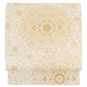 袋帯 正絹 帯 フォーマル アウトレット クリーム 華紋 西陣 礼装用 留袖 訪問着 色無地 新品 ...