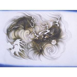 正絹男物額裏(羽織の裏地)『天竜』12番柄 龍
