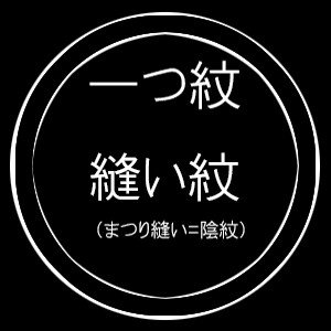 一つ紋縫い紋(まつり縫い/陰紋) kimono-kyoto