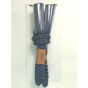 男物羽織紐 絹100% 手組み 青|kimono-kyoto