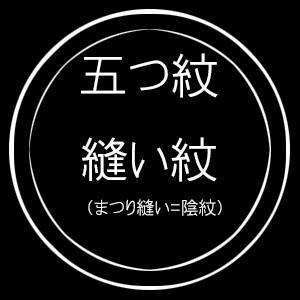五つ紋縫い紋(まつり縫い=陰紋) kimono-kyoto