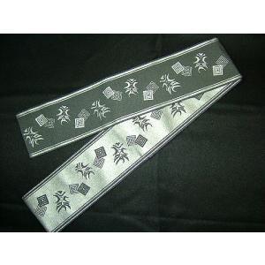 洗える角帯 ポリエステル100% 隈取 銀/黒|kimono-kyoto
