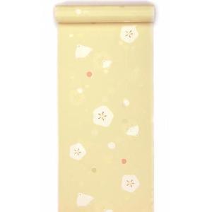 洗える長襦袢 振袖用 反物 水玉ちどり柄 クリーム kimono-kyoto