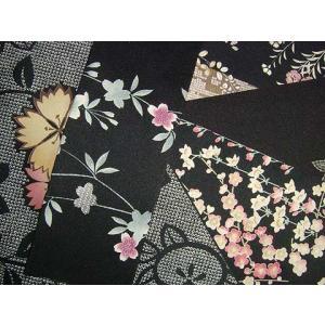着物はぎれ 黒系統|kimono-kyoto