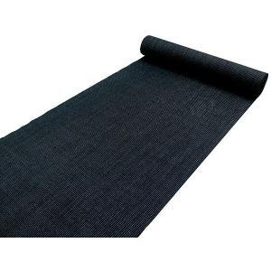 お仕立て付きウール着物反物 黒地にブルーのピンストライプ|kimono-kyoukomati