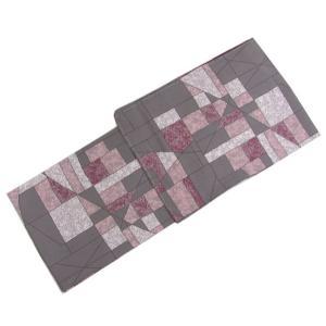 東レシルジェリーお仕立て上がり洗える着物 グレー地オシャレな幾何学模様 フリーサイズ|kimono-kyoukomati