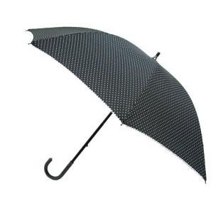 日傘 uvカット 晴雨兼用 着物 和装 パラソル 紫外線カット 雨傘 黒地白水玉柄 30910|kimono-kyoukomati