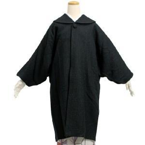 【着物コート 女性 黒地ラメツイード】ロングコート 和装コート フリーサイズ 女性 レディース|kimono-kyoukomati