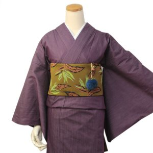 着物 デニム 女性 カジュアル レディース パープル フリーサイズ 仕立て上がり 送料無料|kimono-kyoukomati