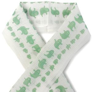 夏の半衿 麻素材でさらりと涼やか 絽 白地 おばけ柄 グリーン 小千谷織物 日本製 DM便発送可能|kimono-kyoukomati