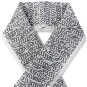 夏の半衿 麻素材でさらりと涼やか 絽 白地 観世流水柄 チャコールグレー 小千谷織物 日本製 DM便発送可能|kimono-kyoukomati