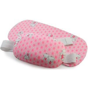 七五三 着付け 小物セット 子供 着物 肌着 着付けセット 女の子 7才 前板 帯枕 2点 ピンク色 麻の葉 わらべ 和装 和服 下着 小物 帯結び 手結び|kimono-kyoukomati