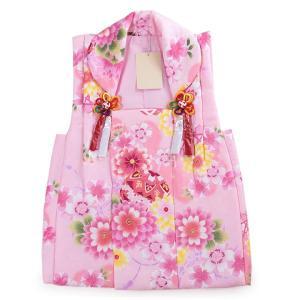 被布 単品 七五三 被布 コート 単品 3歳 女の子 被布飾り付 洗える 三歳 着物 和装 ピンク 菊 桜 毬 可愛い 軽い 被布コート 未使用  tkクオ|kimono-kyoukomati