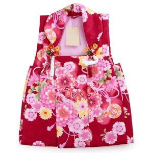 被布 単品 七五三 被布 コート 単品 3歳 女の子 被布飾り付 洗える 三歳 着物 和装 赤 菊 桜 毬 可愛い レトロ 古典 軽い 被布コート 未使用 tkクオ|kimono-kyoukomati