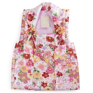 被布 単品 七五三 被布 コート 単品 3歳 女の子 被布飾り付 洗える 三歳 着物 和装 薄ピンク 桜 菊 七宝 紅葉 疋田 可愛い レトロ 被布コート 未使用|kimono-kyoukomati