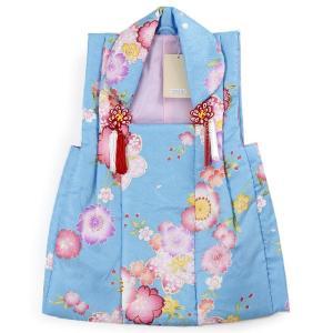 被布 単品 七五三 被布 コート 単品 3歳 女の子 被布飾り付 洗える 三歳 着物 和装  水色 桜  可愛い レトロ 軽い 被布コート 未使用 tkクオ|kimono-kyoukomati