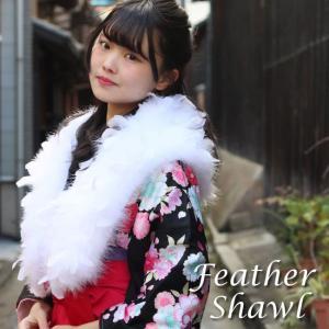 送料無料 ファー 振袖 成人式 卒業式 白 スワン フェザー 羽毛 100% 単品 レディース 着物 和装 ホワイト 女性 購入 tbニチ|kimono-kyoukomati