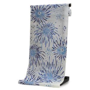 浴衣 反物 仕立て付き 白 花火 山本彩 女性 レディース フルオーダー 綿 和装 和服 日本製 送料無料 kimono-kyoukomati