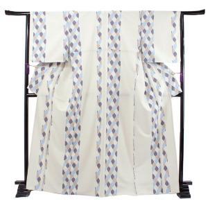 洗える着物 袷 小紋 フリーサイズ 仕立て上がり 単品 ベージュグレー ファスナー 永楽屋 女性 レディース 和装 和服 きもの カジュアル 送料無料 あすつく|kimono-kyoukomati
