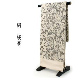 袋帯 扇子付きセット 絹 六通柄 仕立て付き 洒落 クリーム地 更紗柄 レディース 着物 和装 訪問着 付け下げ 色無地 伝統工芸 送料無料|kimono-kyoukomati