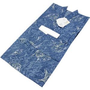浴衣 男の子 110cm 薄ブルー地渦巻き柄綿 男児 お仕立て上がり 単品 子供 こども ゆかた ここち キッズ ボーイズ kimono-kyoukomati