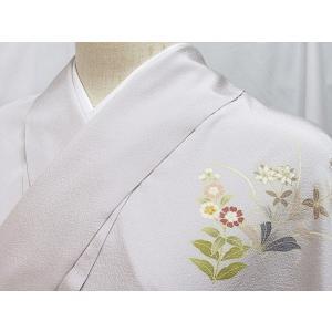 ●さらに!値下げしました20%OFF【新品 仮エバ】【附下げ】正絹 一越 京都千切屋謹製/地紙に吉祥花 刺繍入り★フルオーダー(お仕立付き)|kimono-maruichi