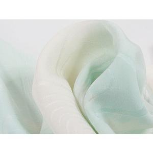 【帯揚げ】正絹 綸子 水輪/白 淡ブルー/洗加工済み/端切れ つまみ細工などにも kimono-maruichi