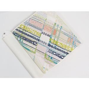 さらに値下げしました20%OFF 新品 川島織物 織九寸名古屋帯 斜め格子 薄アイボリー 特選|kimono-maruichi