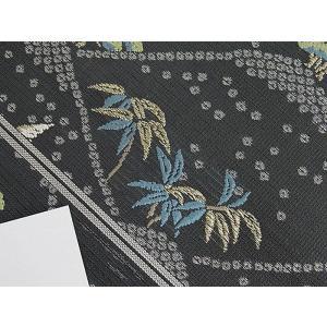さらに値引きしました30%OFF 新品 川島織物 絽 織九寸名古屋帯 連山瑞小紋 夏帯 墨色 特選(お仕立付き)|kimono-maruichi|11