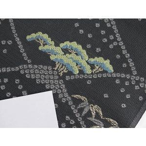 さらに値引きしました30%OFF 新品 川島織物 絽 織九寸名古屋帯 連山瑞小紋 夏帯 墨色 特選(お仕立付き)|kimono-maruichi|12