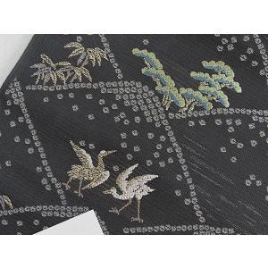 さらに値引きしました30%OFF 新品 川島織物 絽 織九寸名古屋帯 連山瑞小紋 夏帯 墨色 特選(お仕立付き)|kimono-maruichi|13
