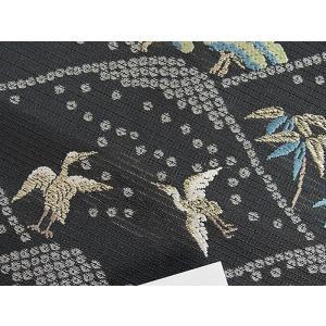 さらに値引きしました30%OFF 新品 川島織物 絽 織九寸名古屋帯 連山瑞小紋 夏帯 墨色 特選(お仕立付き)|kimono-maruichi|14