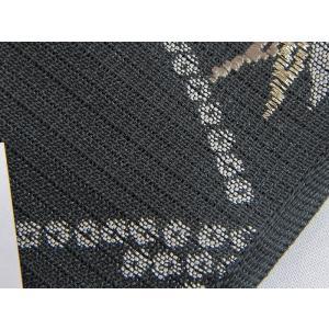 さらに値引きしました30%OFF 新品 川島織物 絽 織九寸名古屋帯 連山瑞小紋 夏帯 墨色 特選(お仕立付き)|kimono-maruichi|16