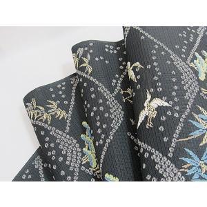 さらに値引きしました30%OFF 新品 川島織物 絽 織九寸名古屋帯 連山瑞小紋 夏帯 墨色 特選(お仕立付き)|kimono-maruichi|19