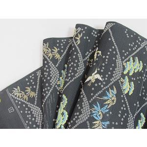 さらに値引きしました30%OFF 新品 川島織物 絽 織九寸名古屋帯 連山瑞小紋 夏帯 墨色 特選(お仕立付き)|kimono-maruichi|20