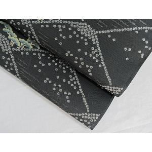 さらに値引きしました30%OFF 新品 川島織物 絽 織九寸名古屋帯 連山瑞小紋 夏帯 墨色 特選(お仕立付き)|kimono-maruichi|07