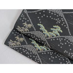 さらに値引きしました30%OFF 新品 川島織物 絽 織九寸名古屋帯 連山瑞小紋 夏帯 墨色 特選(お仕立付き)|kimono-maruichi|08