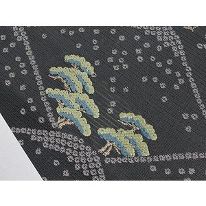 さらに値引きしました30%OFF 新品 川島織物 絽 織九寸名古屋帯 連山瑞小紋 夏帯 墨色 特選(お仕立付き)|kimono-maruichi|10