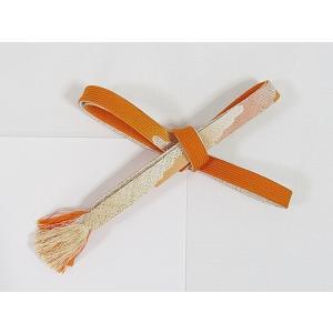 【未使用】正絹 帯締め 切房 高麗 手組紐☆オレンジ暈し【メール便可】|kimono-maruichi
