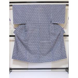 ●さらに!値引きしました20%OFF【未使用】【仕付けアリ】【男物】【浴衣】鍵柄 大変キレイな状態です☆藍☆172cmベスト【美品】|kimono-maruichi