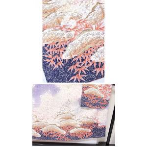 さらに値下げしました20% 振袖 特選 岩田專太郎 正絹 綸子 手描友禅 松竹梅文 パープルバイオレット 151cm前後の方ベスト 美品|kimono-maruichi|10
