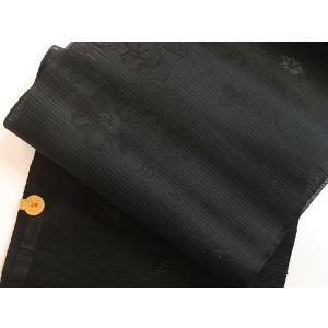●さらに!値引きしました40%OFF【新品 未仕立】●(絽)黒共名古屋帯【単・夏用】☆流水に紅葉☆西陣証紙1832 kimono-maruichi