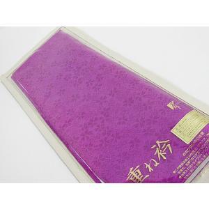 【重ね衿】正絹 広衿/重ね衿 振袖 伊達衿 和装小物 訪問着 振袖☆花紫【美品】|kimono-maruichi