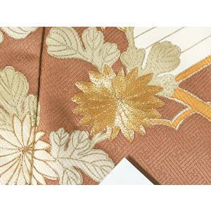 さらに値引きしました30%OFF 色留袖 正絹 共八掛 3つ紋(金糸縫い紋) 雲取りに花車 揚羽蝶 154cm前後ベスト 美品|kimono-maruichi|11
