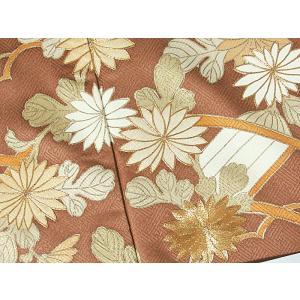さらに値引きしました30%OFF 色留袖 正絹 共八掛 3つ紋(金糸縫い紋) 雲取りに花車 揚羽蝶 154cm前後ベスト 美品|kimono-maruichi|14