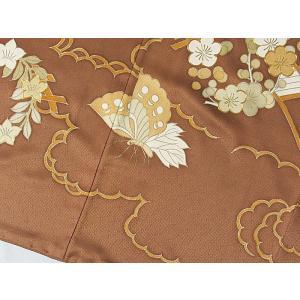 さらに値引きしました30%OFF 色留袖 正絹 共八掛 3つ紋(金糸縫い紋) 雲取りに花車 揚羽蝶 154cm前後ベスト 美品|kimono-maruichi|15