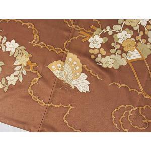さらに値引きしました30%OFF 色留袖 正絹 共八掛 3つ紋(金糸縫い紋) 雲取りに花車 揚羽蝶 154cm前後ベスト 美品|kimono-maruichi|16