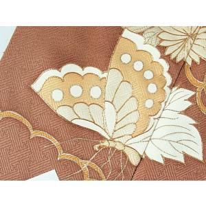 さらに値引きしました30%OFF 色留袖 正絹 共八掛 3つ紋(金糸縫い紋) 雲取りに花車 揚羽蝶 154cm前後ベスト 美品|kimono-maruichi|10