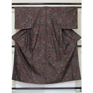 ●さらに!値引きしました30%OFF未使用 仕付けアリ【正絹 紬】草木染/手織り/ダークレッドパープル/149cm前後の方【超美品】お薦めです|kimono-maruichi